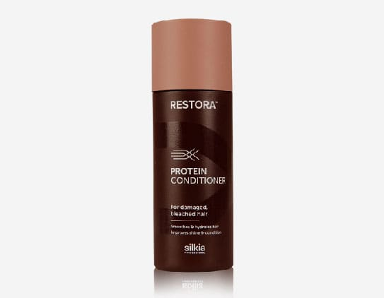 Restora Protein Conditioner smoothes and hydrates hair. It also improves shine and condition.